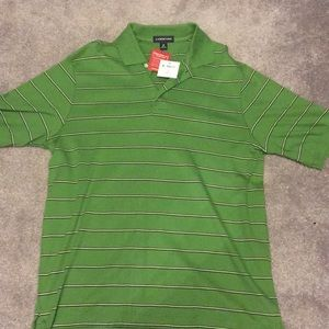Short Sleeve Striped Lands End Polo